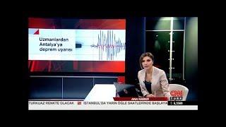 Antalya İçin Deprem Çok Büyük Tehdit İçermiyor
