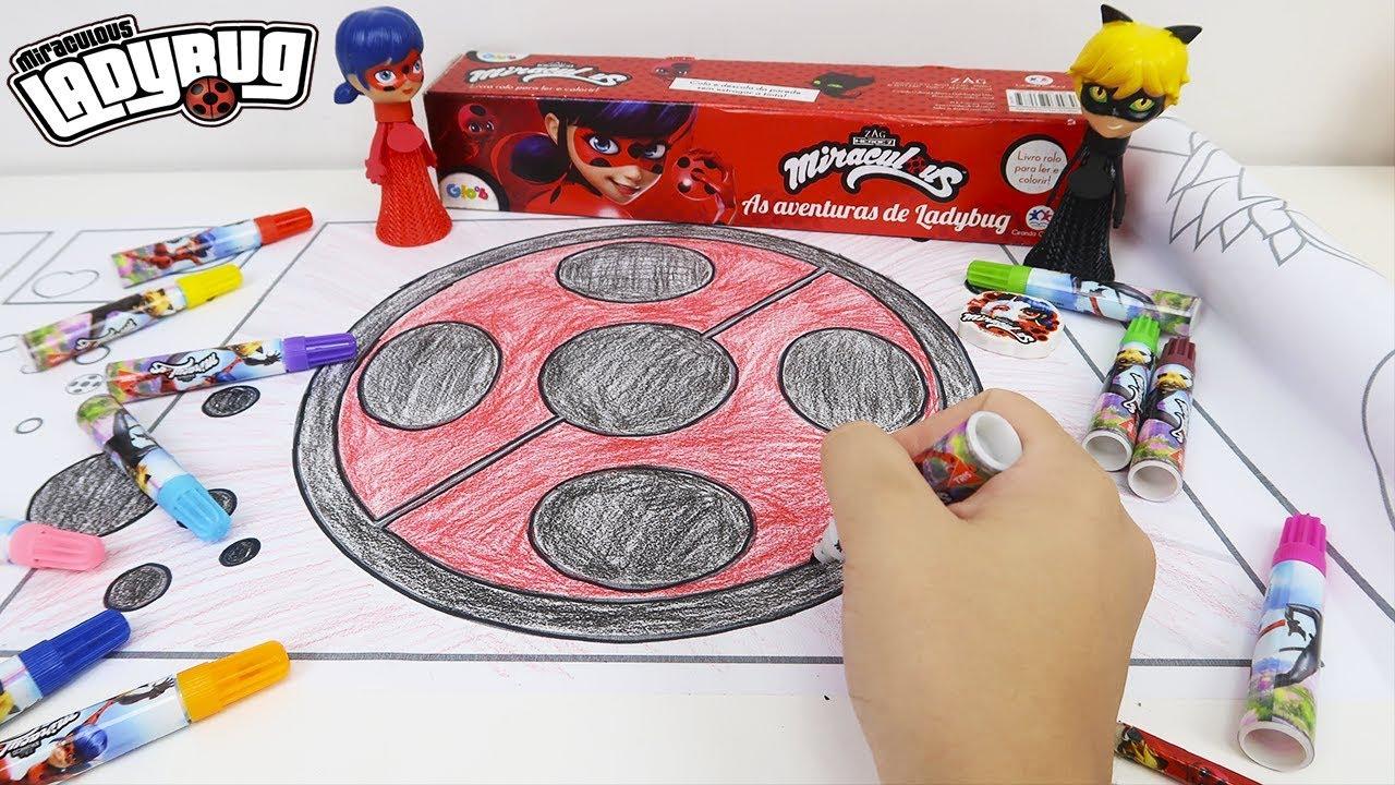 Colorindo Miraculous Ladybug Livro Rolo Para Ler E Colorir Youtube