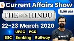 8:00 AM - Daily Current Affairs 2020 by Bhunesh Sir | 22-23 March 2020 | wifistudy