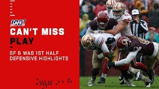 49ers & Redskins Showcase Strong Defense in 1st Half