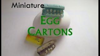 Polymer Clay/Paper Dollhouse Miniature Egg Cartons