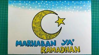 Cara membuat poster marhaban ya ramadhan