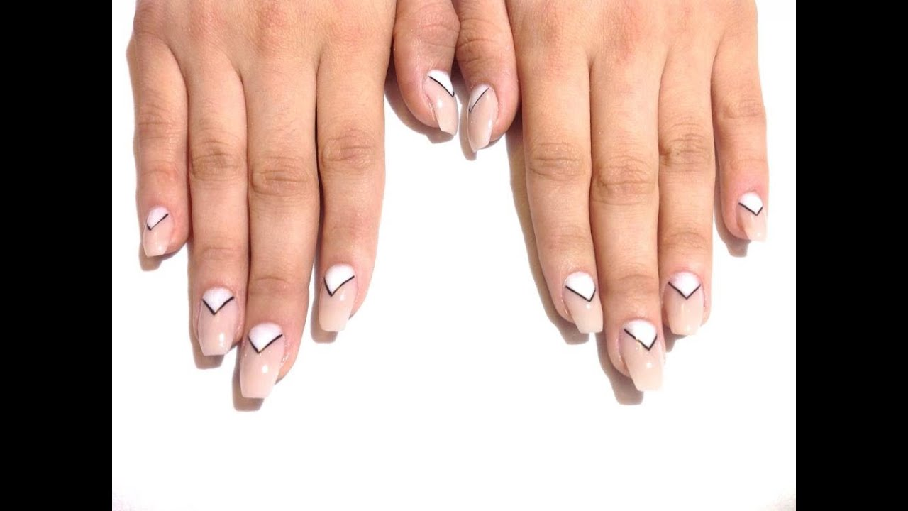 How To Inverted Triangle Nails