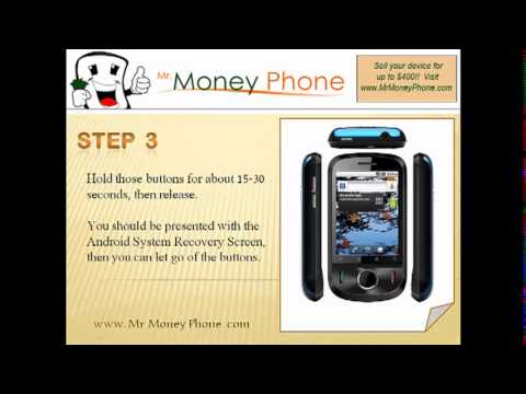 HARD RESET Huawei Ideos U8150 (external) Master Reset (RESTORE to FACTORY condition) Video