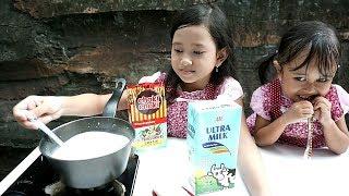 Jessica Jenica Membuat Es Lilin Choki Choki 💖 Enak banget sampai ketagihan!!! Mainan Anak
