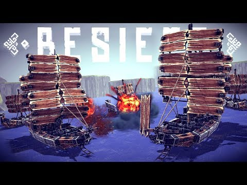 Besiege Multiverse - CRAZY PIRATE SHIP BATTLES! - New Custom Maps for Multiplayer - Besiege Gameplay