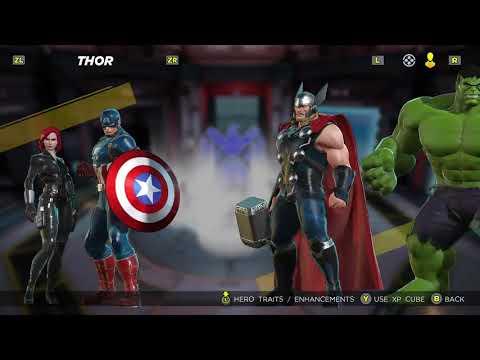 Marvel Ultimate Alliance 3 Thor Black Widow Captain America Hulk Stats Ability