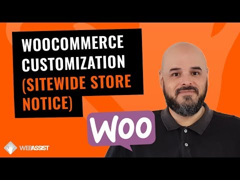 Wordpress Woocommerce Customization | Sitewide Store Notice [Astra Theme & Beaver Builder]
