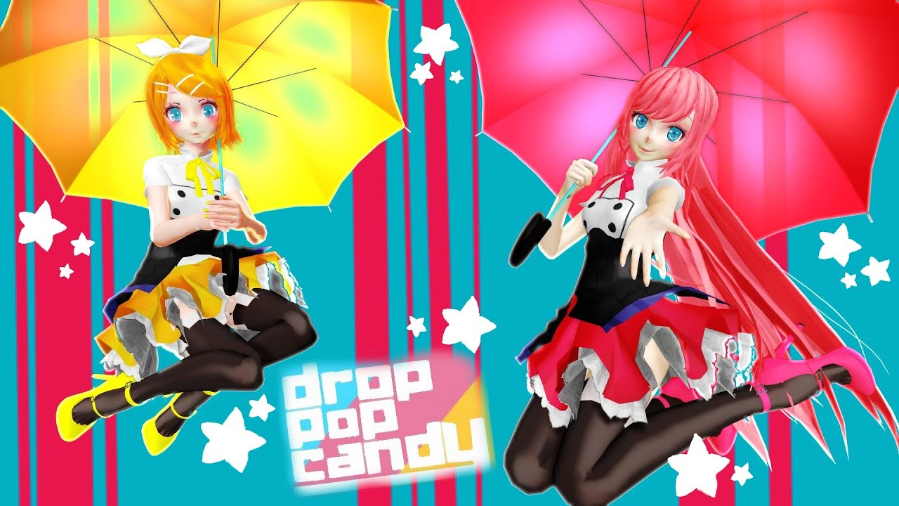 Crazy Anime Girl Wallpapers 【mmd】drop Pop Candy 【rin*luka】 Youtube