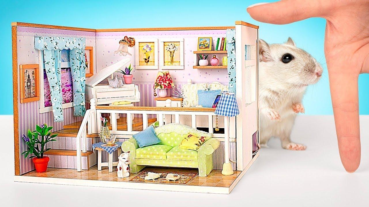 Ataque de Hamster em Sala de Música em Miniatura