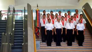 栃木県庁での作新の優勝報告会 作新関係者と知事の入場