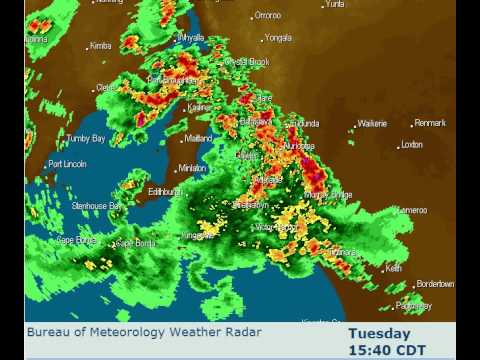Adelaide SA Radar Loop - 12 Hour 7/12/2010