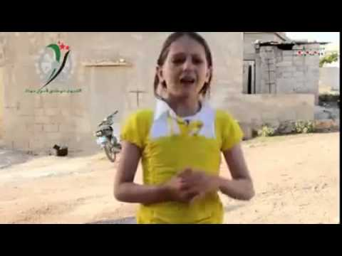 A young girl speaks about the current situation of syria.