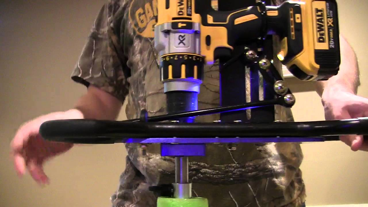 Clam Auger Drill Plate with Dewalt DCD995 - Brake causing jumping? - YouTube