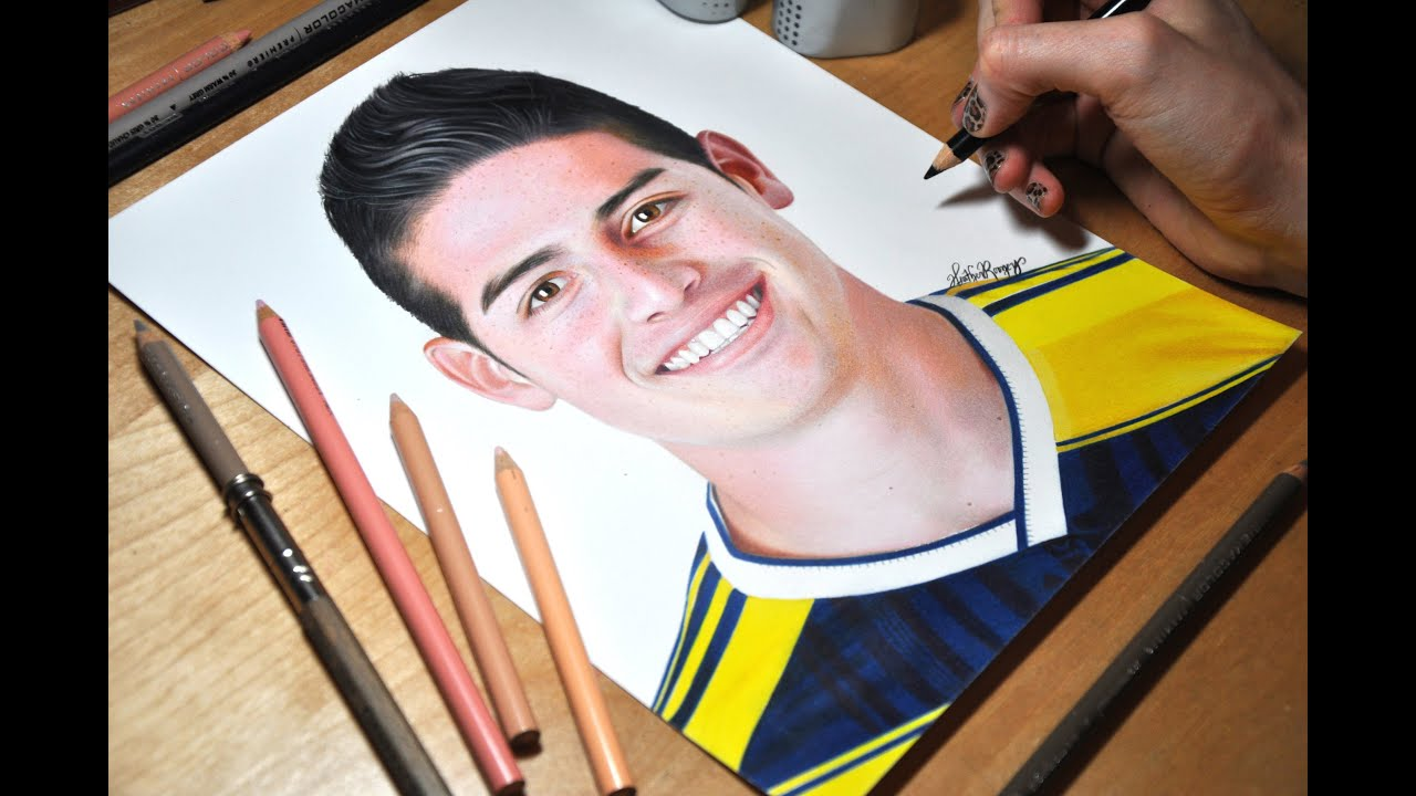 Drawing James Rodriguez Youtube