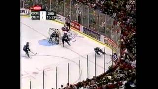 Video 2002 Playoffs: Col @ Det - Game 1 Highlights download MP3, 3GP, MP4, WEBM, AVI, FLV November 2017