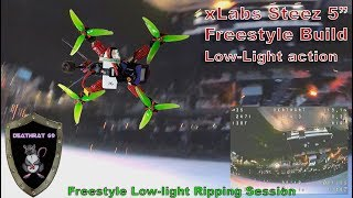 "Flying the Steez 5"" Quadcopter in Low-Light Conditions 