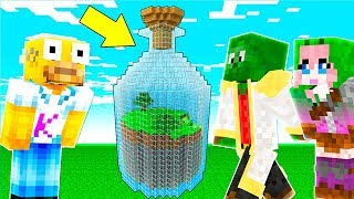 HOW TO LIVE INSIDE A BOTTLE in MINECRAFT 🍾😱 | CASAS IMPOSIBLES at MINECRAFT