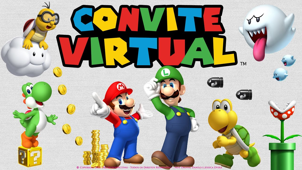 Convite Virtual Super Mario Bros Youtube