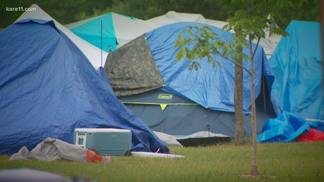 Homeless encampments grow in Minneapolis