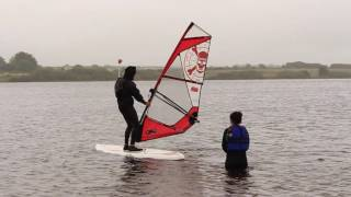 Learn how to windsurf with Chris at Stithians Lake, Cornwall.
