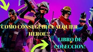 How to Get Recruit Any Hero Fortnite Collection Book xbox one Ps4 PC