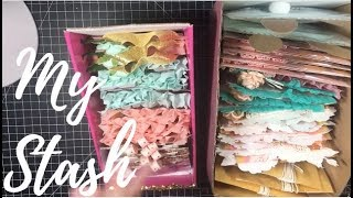 Handmade Embellishment ideas- Take a look at my stash - Happy mail ideas