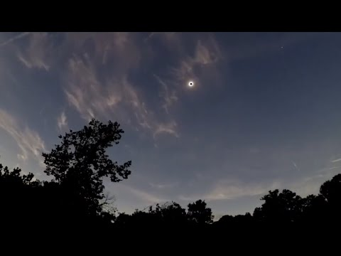 Eclipse Totality GoPro Meramec River Missouri