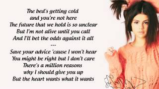 Cópia de Selena Gomez- The Heart Wants What It Wants (Lyrics)