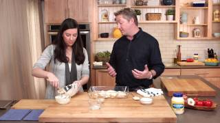 Cooking Parmesan Crusted Chicken with Chef Tim Love #JuicySecrets
