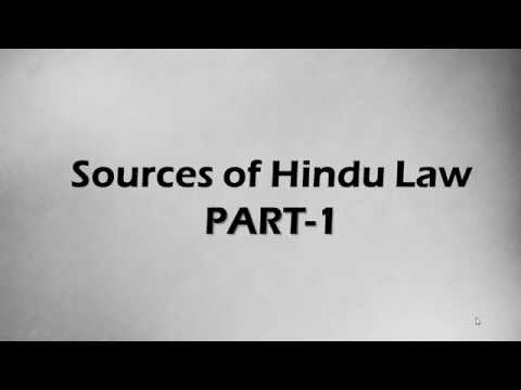 Sources of Hindu Law ( Part 1)