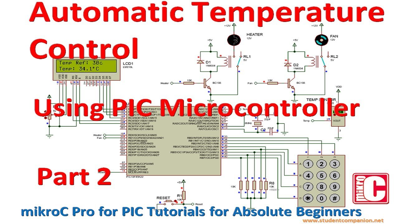 Design an Automatic Temperature Control Using PIC Microcontroller