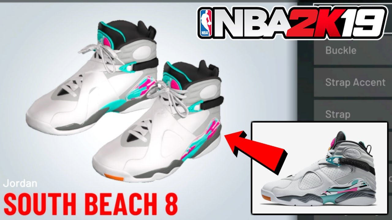 4e0e2815ea99e6 HOW TO MAKE SOUTH BEACH AIR JORDAN 8 IN NBA 2k19 - Nba 2k19 Shoe Creator