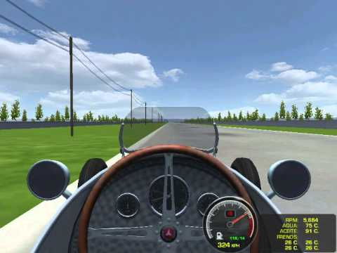 rFactor - Speed test with the Mercedes Benz W125