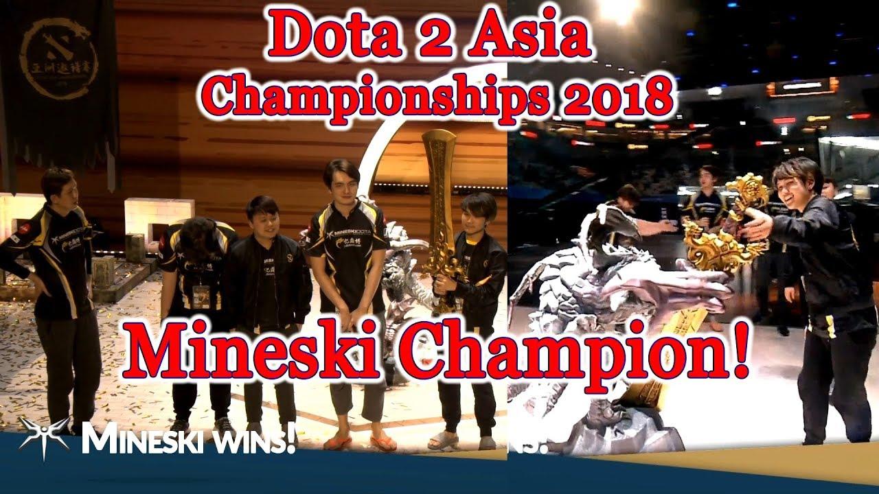 Mineski champion 🏆 Dota 2 Asia Championships 2018 Grand Final vs LGD Winning moment #CyberWins