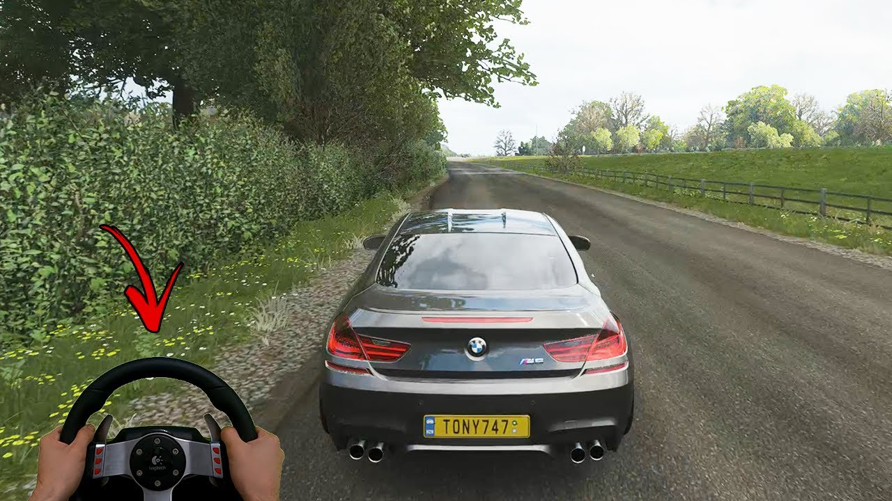 ★ Forza Horizon 4 - BRUTAL BMW M6 | Real Hands Gameplay | Steering Wheel + Paddle Shifters