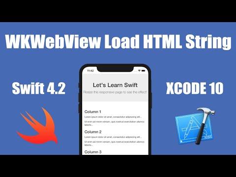 WKWebView Load HTML String Swift 4.2 IOS Xcode 10