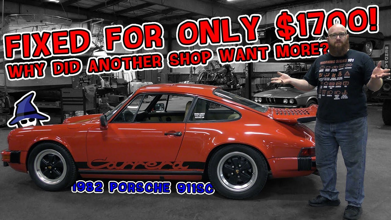 CAR WIZARD fixed this '82 Porsche 911SC for $1700. He saved the owner tons of money!