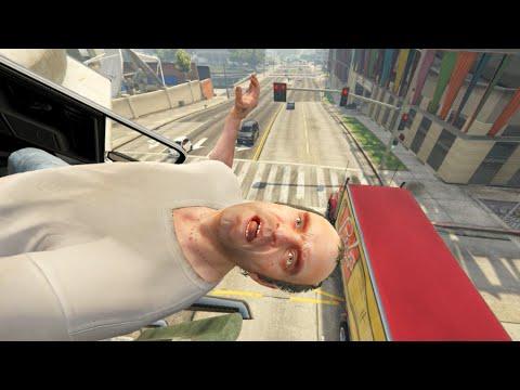 GTA V Unbelievable CrashesFalls - Episode 105