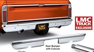 Chrome Bumper with Exhaust Cutouts  - TruckU with LMC Truck
