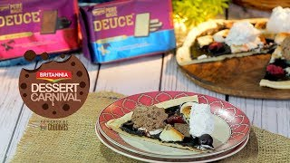 Deuce Choco Pizza By Mini Mathur | How To Make Chocolate Pizza At Home | Britannia Dessert Carnival