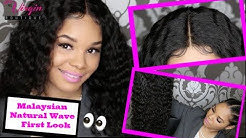 Malaysian Natural Wave  Flirt w/Lace Closure ( First Look)