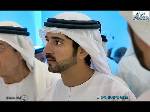 Hamdan bin Mohammed (فزاع Fazza) visits 'Art Dubai'