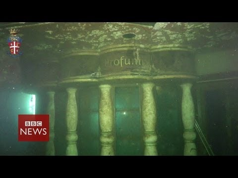 Costa Concordia Underwater Footage Bbc News Youtube