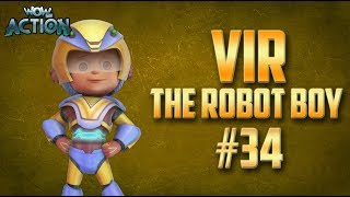 Vir: The Robot Boy | Hindi Cartoon Compilation For Kids | Compilation 34 | WowKidz Action