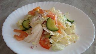 Салаты. Легкий овощной салат из Пекинской капусты.