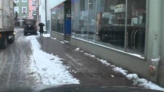 Stau wegen einem Falschparker - LKW und PKW fahrer werden behindert - 001 - Bad Driver - Germany