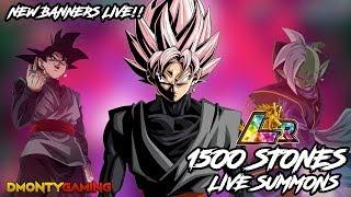 1500 STONES LIVE LR SUMMONS FOR GOKU BLACK!!! |.DRAGON BALL Z DOKKAN BATTLE