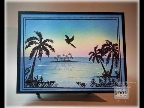 Framescapes   Tropical Skies Card