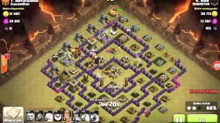Ataque con gigantes y magos clash of Clans